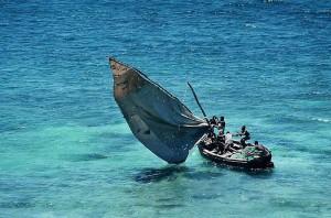Utanför Moçambique rinner Moçambiquekanalen
