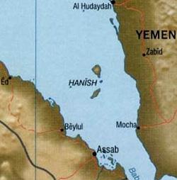Hanishöana tillhör Eritrea