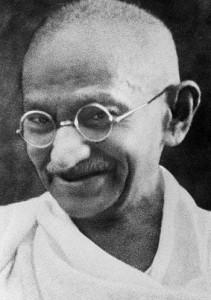 Mahatma Gandhi i Indien