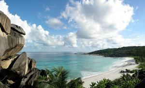 Strand i Seychellerna